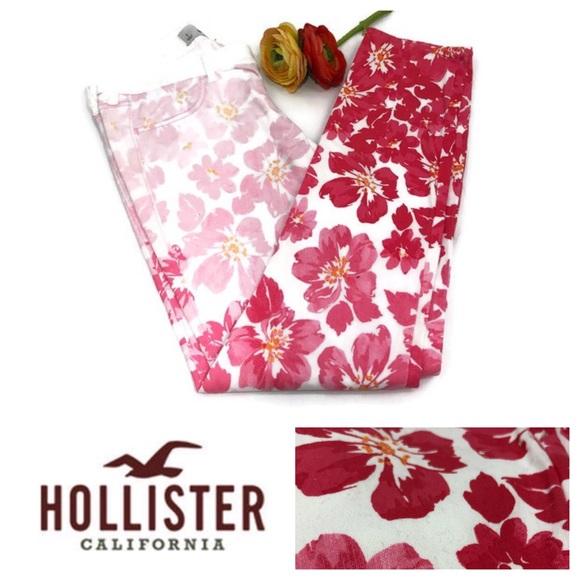 Hollister Denim - Hollister Ombré Floral Cropped Skinny Jeans